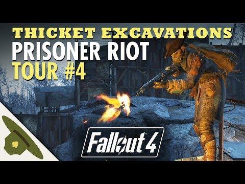 PRISONER RIOT at Thicket Excavations   Huge Fallout 4 settlement tour - PART 4 thumbnail