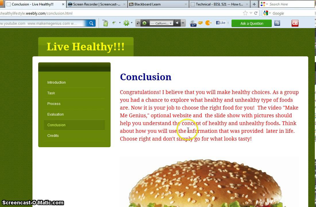 introduction and conclusion healthy eating