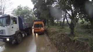 Caméra embarqué sur la D88 a La Londe, trois jours après l'innondation