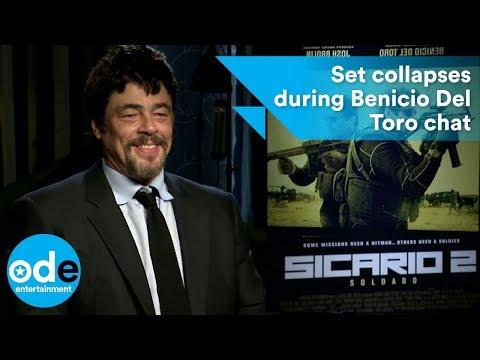 SICARIO 2: Set collapses during Benicio Del Toro chat