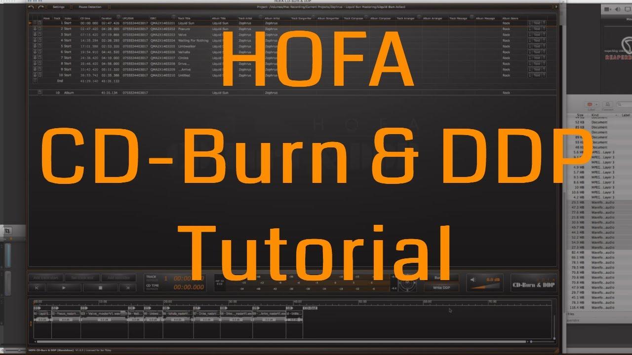 HOFA CD-Burn & DDP Demo