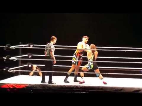 Satender Dagar ( Jeet Rama ) vs Chad Gable 15 January 2016 First Debut Fight #WWELiveIndia