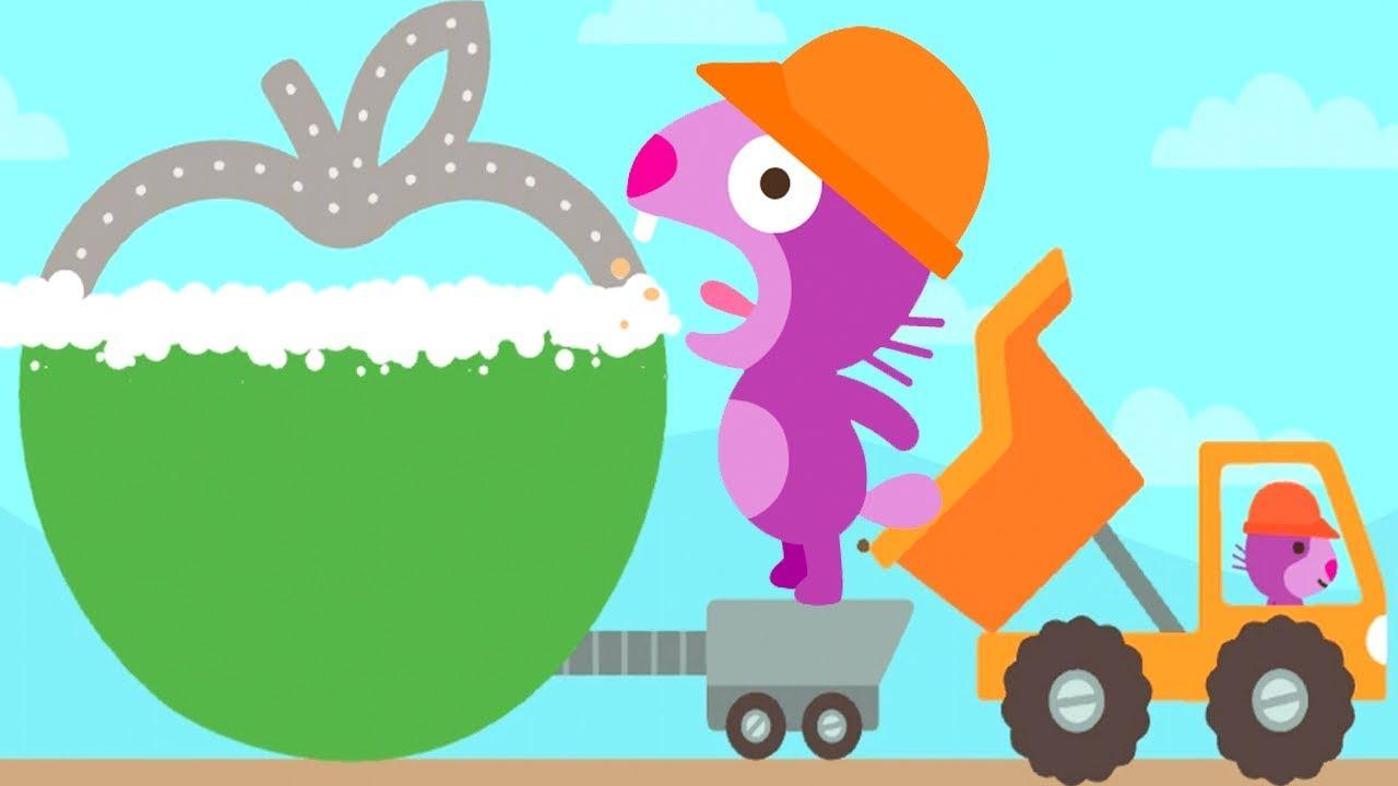 Sago Mini Trucks & Diggers Cartoon Games - Fun Children Play Sago ...
