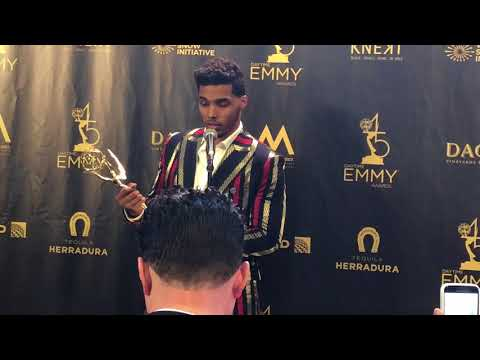 with Rome Flynn, Best Younger Actor in the 2018 Daytime Emmys