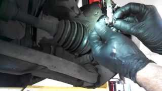 Front brake pad replacement 2001 Mitsubishi Galant caliper rotor Install Remove Replace How to