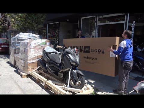 unboxing 2020 YAMAHA XMAX TECHMAX 300cc