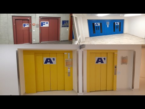 MACHINE ROOM TOUR!!! Schindler Elevators With Traction And Hydraulic @ Porrentruy, Switzerland