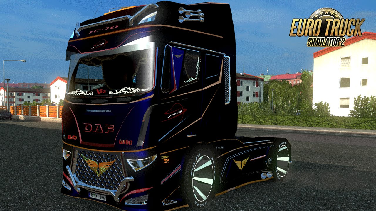 le camion le plus rapide du monde i daf evo wing i euro truck simulator 2 youtube. Black Bedroom Furniture Sets. Home Design Ideas