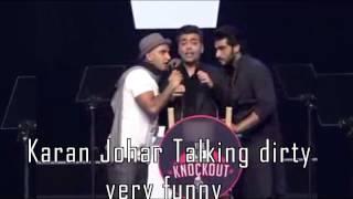 AIB Knockout talking dirty verry funny karan johar & arjun kapoor