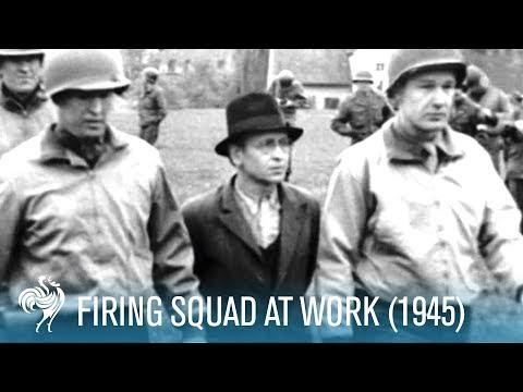 Firing Squad At Work (1945) | British Pathé