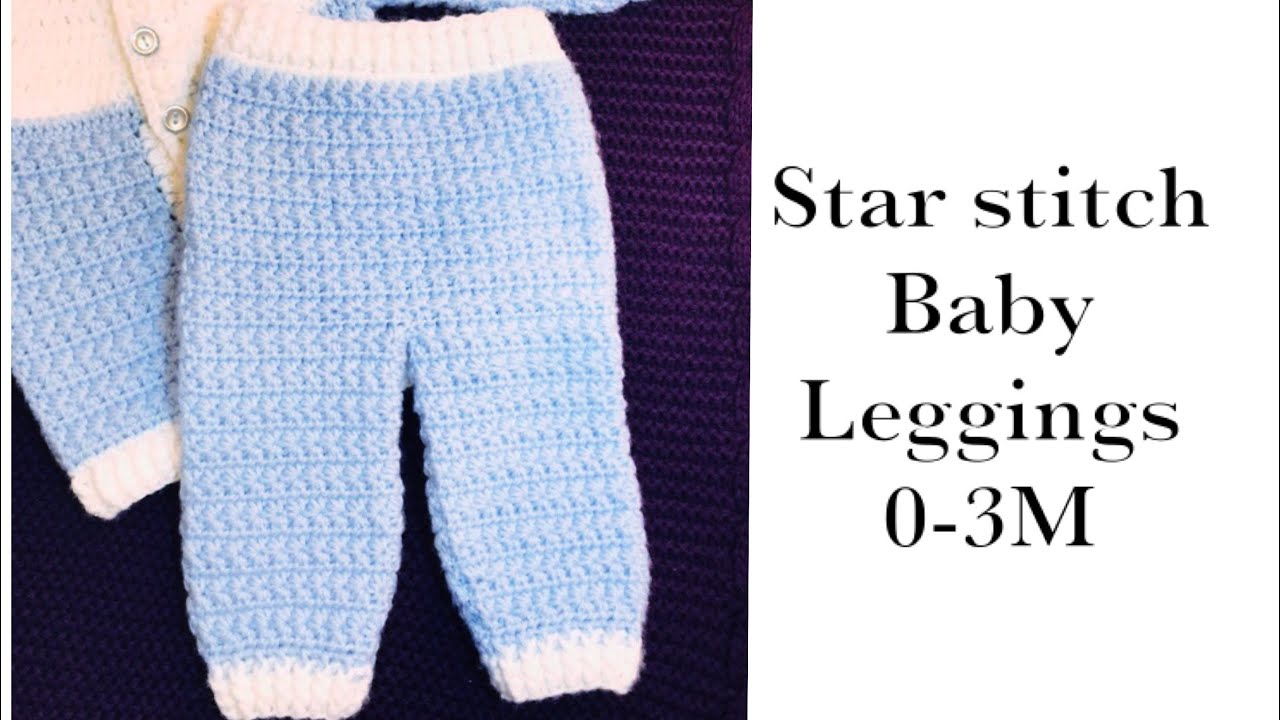 9e8462056c837 Baby Boy Set: How to crochet newborn star stitch baby pants or leggings 0-6M  Crochet for Baby #177