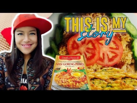 [ENG SUB] ASMR SPICY INDOFOOD FRIED RICE With MY STORY - NASI GORENG INDOFOOD ( Homemade) NO TALKING