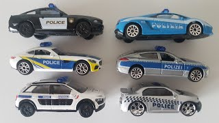 Driving Toy Cars Police cars international 6 Pieces