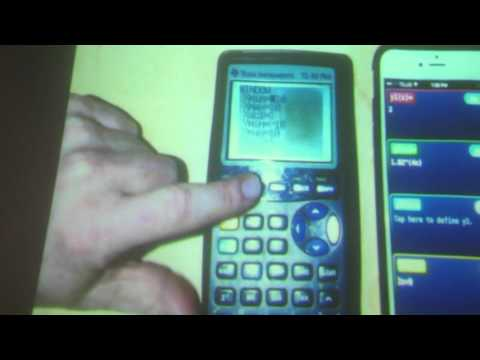 TI 83 vs iPhone via ELMO