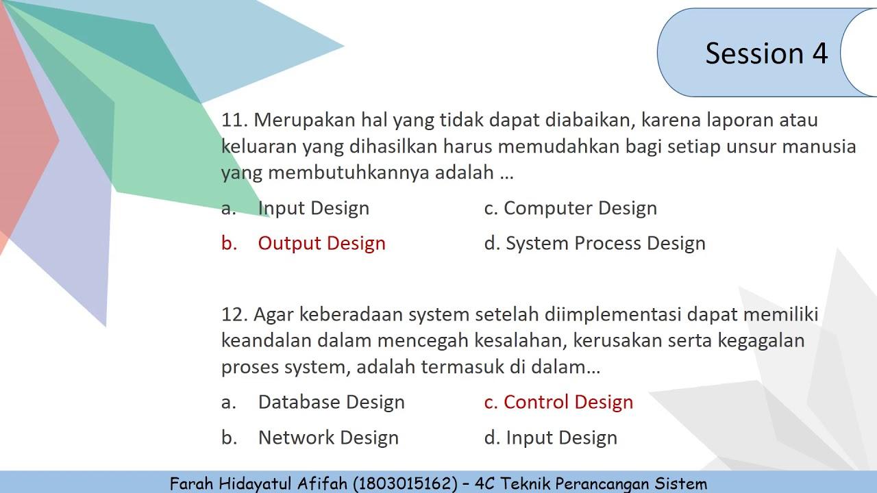 Tugas 7 - Teknik Perancangan Sistem (Review Materi.01 s/d Materi ...