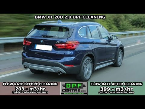 Bmw X1 20d 2 0 Dpf Cleaning Youtube