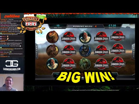 BIG WIN on Jurassic Park Slot - £3.60 Bet
