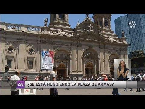 Aseguran que la Plaza de Armas de Santiago se hunde - Ahora Noticias Central / 17 de noviembre