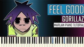 How to play: gorillaz - feel good inc. | piano tutorial