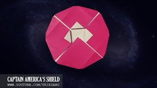 ORIGAMI for KIDS: How to make an EASY paper disc that flies back | Captain America's Shield