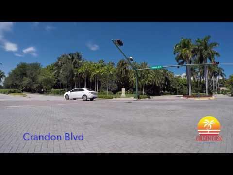 Drive Through Key Biscayne, FL