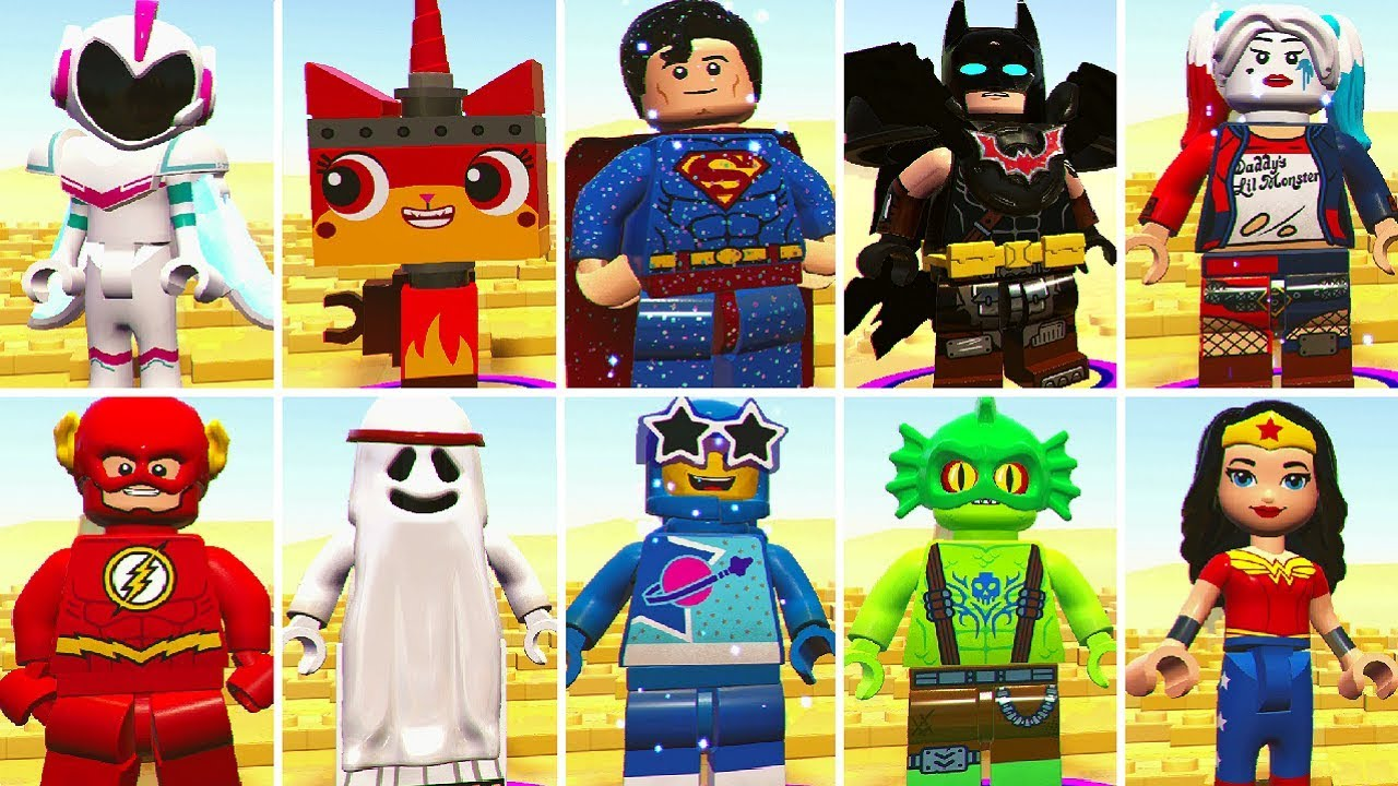 All Characters In The Lego Movie 2 Videogame Youtube