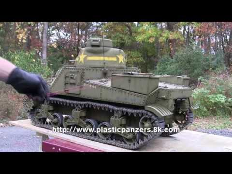 1/6th scale M3 lee model showcase video part 1 of 2