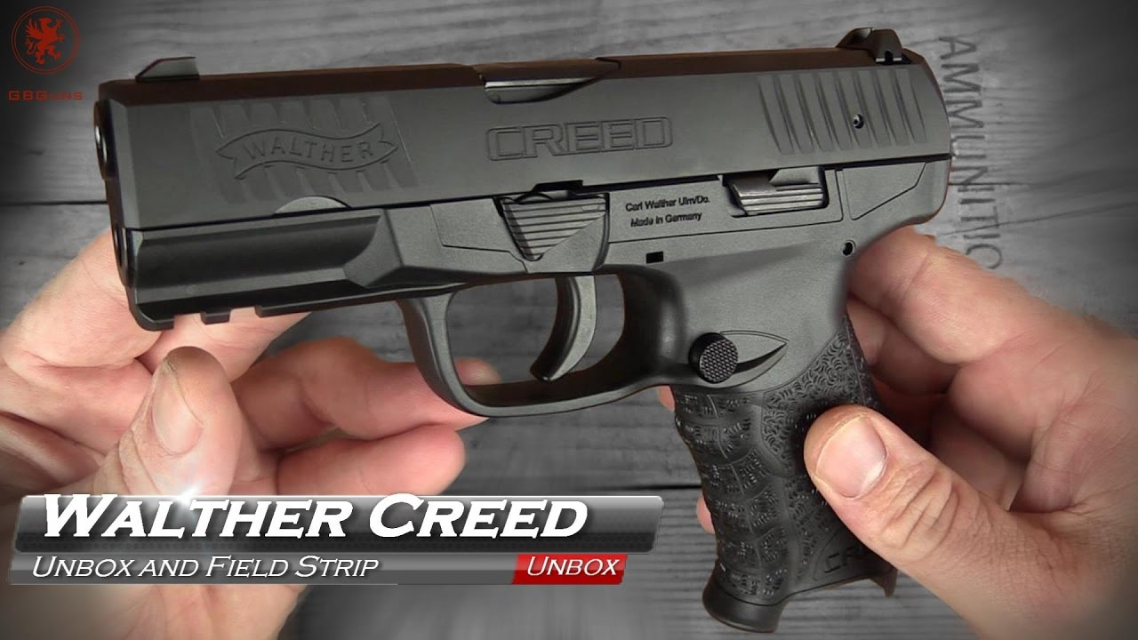 Walther Creed Unbox and Field Strip