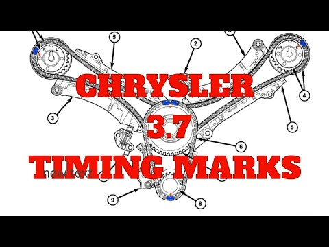 Chrysler 3.7 engine timing chain marks jeep, charger,300,ram, marcas de  tiempo para motor 3.7 dodge - YouTube