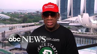Dennis Rodman reacts to deal between US, North Korea