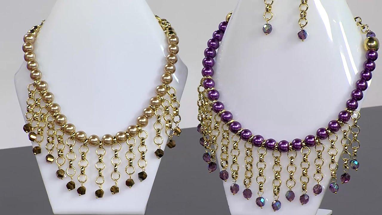 Manualidad: Collar Con Perlas En Ensamble