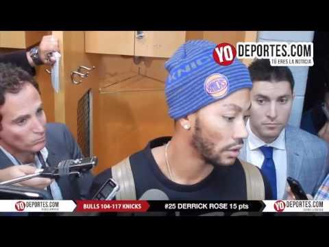 Derrick Rose return to home 15 points vs Chicago Bulls-New York Knicks