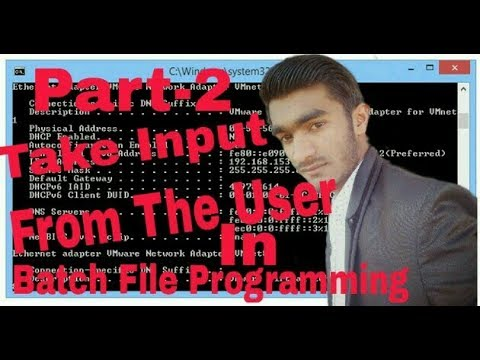 [Hindi] Part-2 Take inut from user in Batch file programming