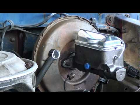 HOW TO REPLACE A BRAKE MASTER CYLINDER PART 2 OF 2 ON THE