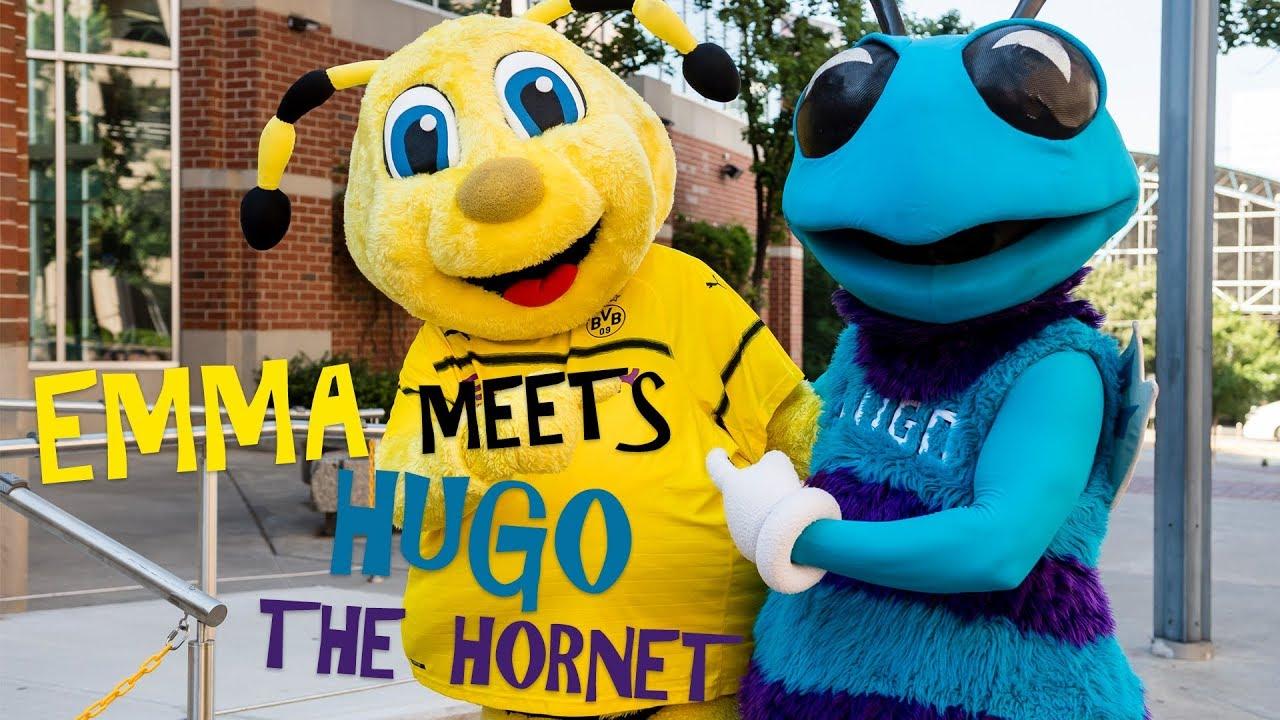 Bvb Goes Nba Emma Meets Hugo The Hornet Mascot Meetup Youtube