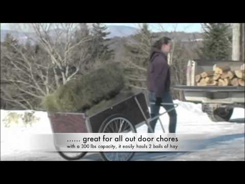 Carts Vermont Model 26 Large Garden Cart in use YouTube