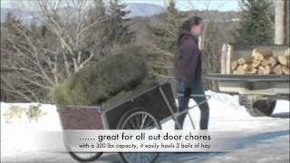 Carts Vermont - Model 26 - Large Garden Cart In Use