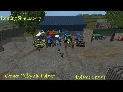 Fs 17 - Cennen Valley Multiplayer - Episode 2 part 1 - Silage