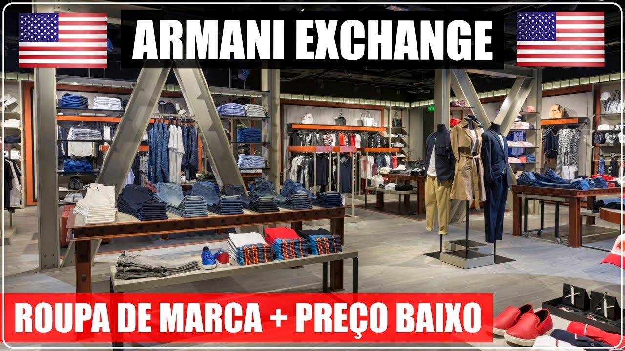 f6b7c8889e ARMANI EXCHANGE Orlando Premium Outlets com PREÇOS BAIXOS no Viajar ...