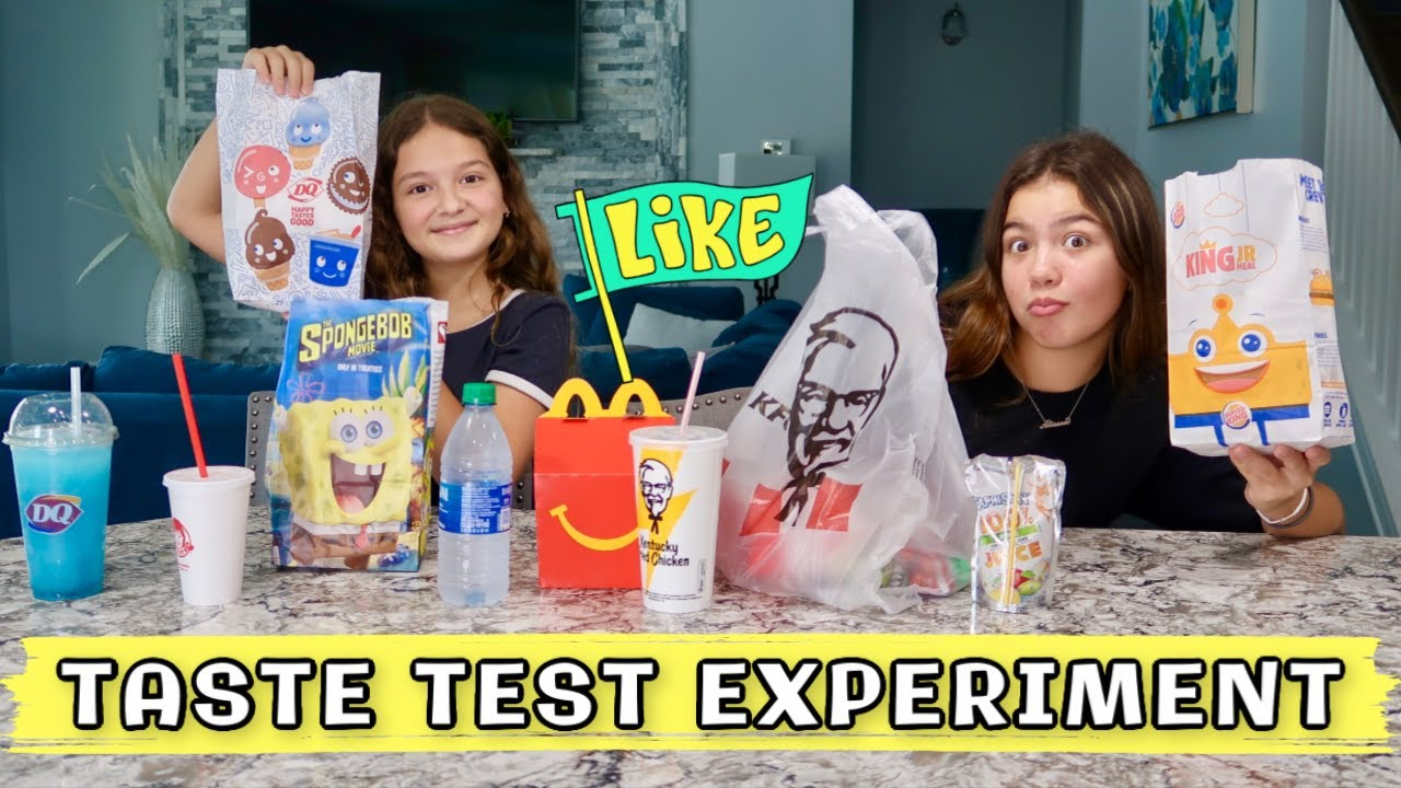 "TRYING DIFFERENT FAST FOOD KIDS MEAL "" TASTE TEST EXPERIMENT "" 