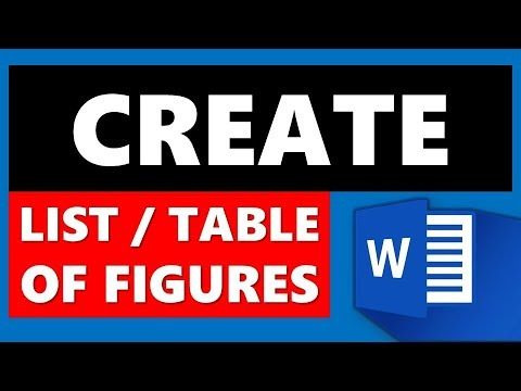 Create List/Table of Figures in Microsoft Word (MS Office)