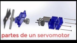 Partes de servomotor explicado en dos minutos   editronikx