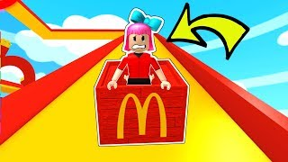 Roblox: SLIDING DOWN 888,888,888 FEET IN MCDONALDS!!!