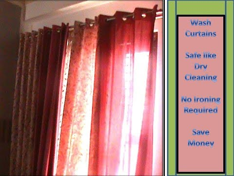 How to wash curtains at home - dry cleaning like safe and effective