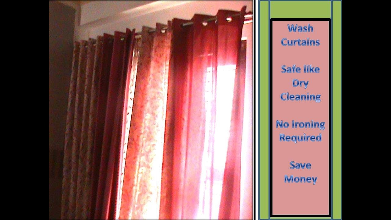 How To Wash Curtains At Home