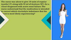 NCLEX Question: Why is Insulin & Dextrose given to a patient with Acute Renal Failure