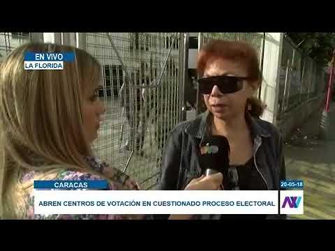 Se inicia el proceso electoral en Caracas con poca presencia de votantes #NoticiasEnVIVO
