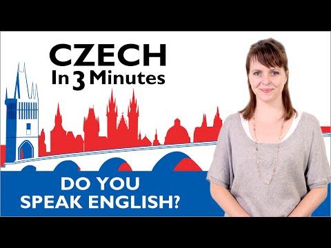 Learn Czech - Do You Speak English? - Czech in Three Minutes
