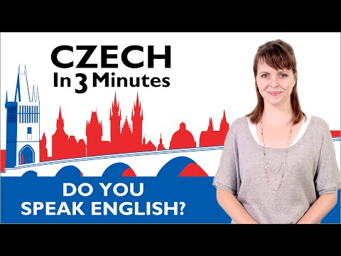 Learn Czech - Do You Speak English? - Czech in Three Minutes