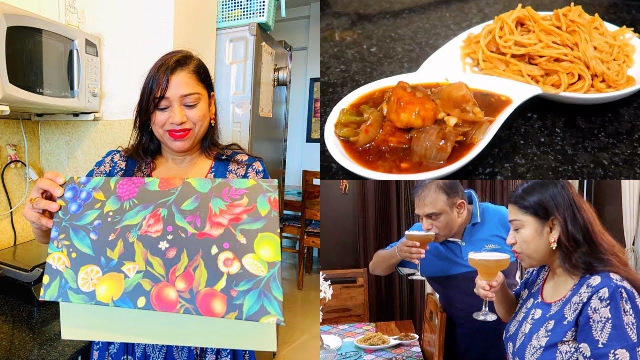 Wow !! 🤩 खुशियों का ख़ज़ाना मिल गया    Chilli Paneer & Hakka Noodles Recipe    Indian Mom Studio